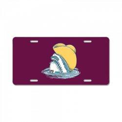 funny hat shark License Plate   Artistshot