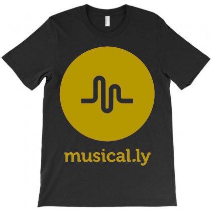 Musically    Gold T-shirt Designed By Mdk Art