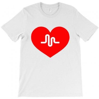 Musically Heart T-shirt Designed By Mdk Art