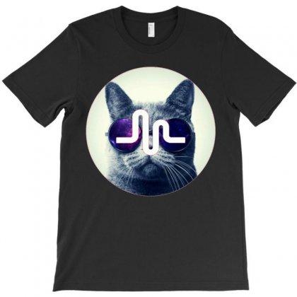 Musically Meow T-shirt Designed By Mdk Art