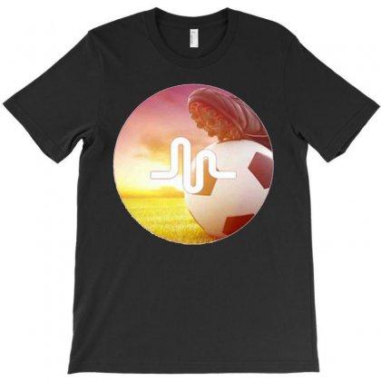 Musically Soccer T-shirt Designed By Mdk Art