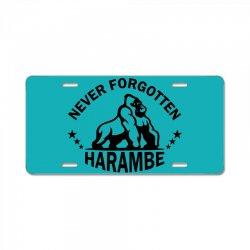 Never Forgotten Harambe License Plate | Artistshot
