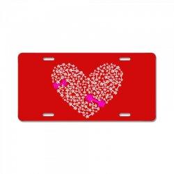 love gym pink dumble License Plate | Artistshot
