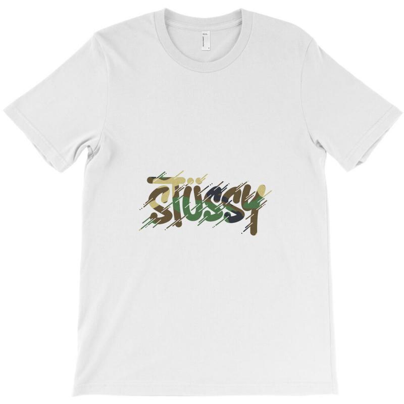 b944bd2a1 Custom Stussy Camo T-shirt By Mdk Art - Artistshot