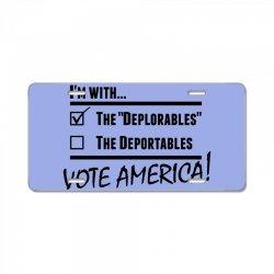 Deplorables America License Plate | Artistshot
