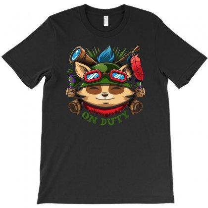 Teemo On Duty T-shirt Designed By Mdk Art