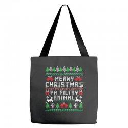 merry christmas ya filthy animal Tote Bags | Artistshot