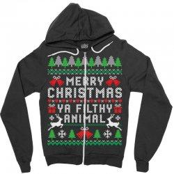 merry christmas ya filthy animal Zipper Hoodie | Artistshot