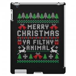 merry christmas ya filthy animal iPad 3 and 4 Case | Artistshot