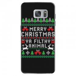 merry christmas ya filthy animal Samsung Galaxy S7 | Artistshot