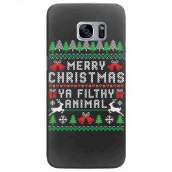 merry christmas ya filthy animal Samsung Galaxy S7 Edge Case | Artistshot