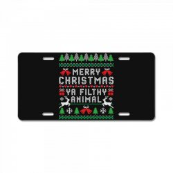 merry christmas ya filthy animal License Plate | Artistshot