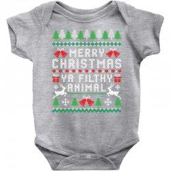 merry christmas ya filthy animal Baby Bodysuit | Artistshot