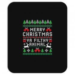 merry christmas ya filthy animal Mousepad | Artistshot