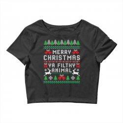 merry christmas ya filthy animal Crop Top | Artistshot