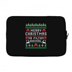 merry christmas ya filthy animal Laptop sleeve | Artistshot