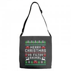 merry christmas ya filthy animal Adjustable Strap Totes | Artistshot