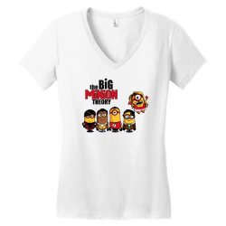 the big minion theory Women's V-Neck T-Shirt   Artistshot