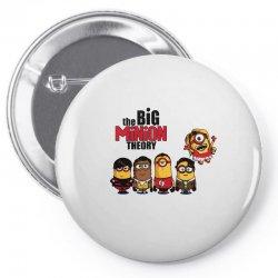 the big minion theory Pin-back button   Artistshot