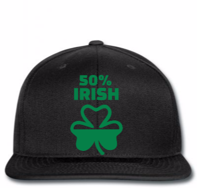 50% Irish Copy Snapback Designed By Madhatter