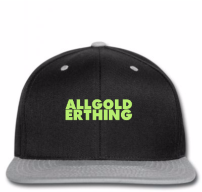 Custom All Gold Erthing 3 Snapback By Madhatter - Artistshot 3ab84eedd26