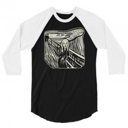 the scream 3/4 Sleeve Shirt | Artistshot