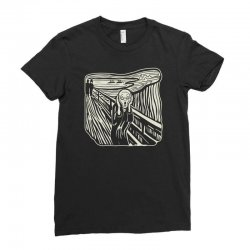 the scream Ladies Fitted T-Shirt | Artistshot