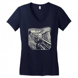 the scream Women's V-Neck T-Shirt | Artistshot