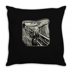 the scream Throw Pillow | Artistshot