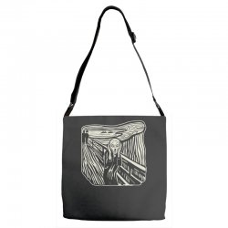 the scream Adjustable Strap Totes | Artistshot