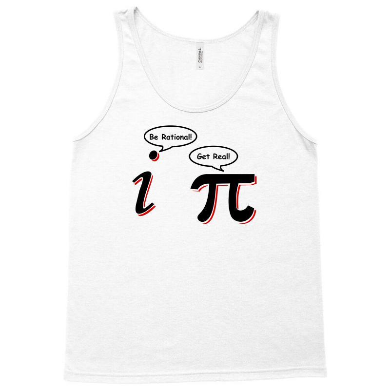 996963ba3 be rational get real t shirt funny math tee pi nerd nerdy geek shirt h Tank  Top