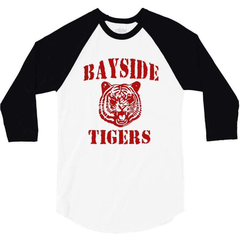 43d14bad Custom Bayside Tigers 3/4 Sleeve Shirt By Wisnuta1979 - Artistshot