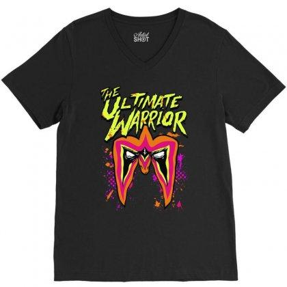 The Ultimate Wrestler V-neck Tee Designed By Mdk Art