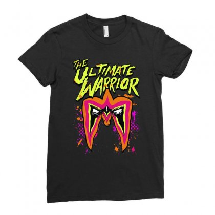 The Ultimate Wrestler Ladies Fitted T-shirt Designed By Mdk Art
