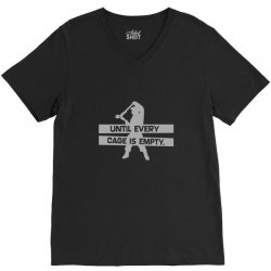 until every cage is empty V-Neck Tee | Artistshot