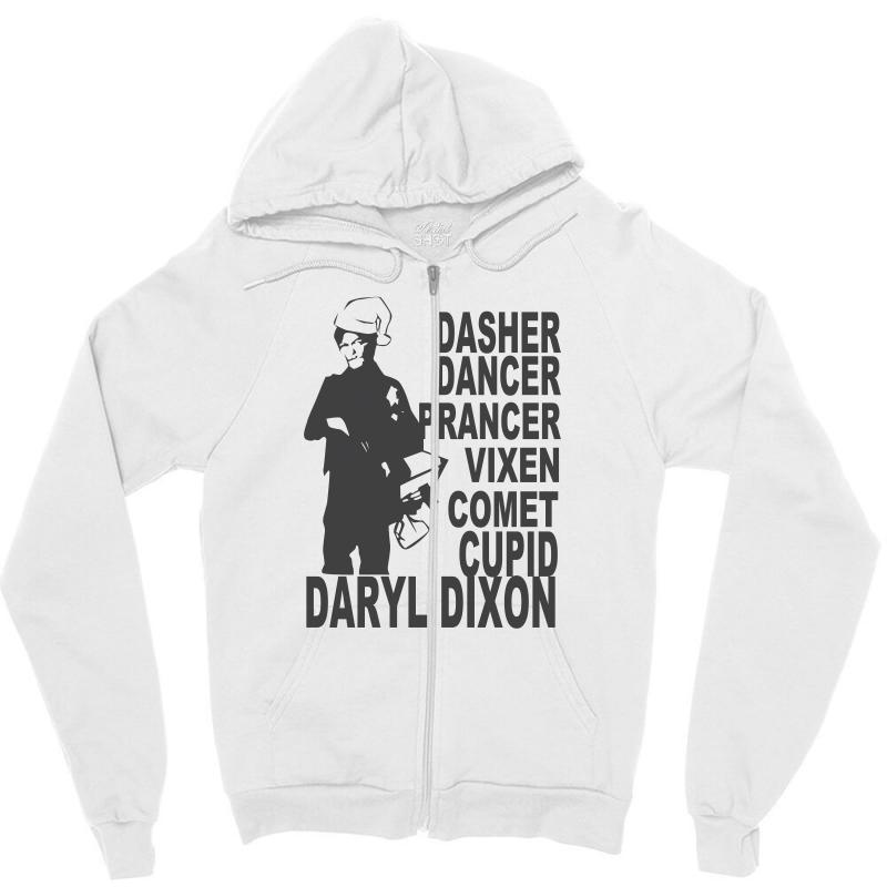 Custom Unisex Daryl Dixon Crew Neck Zipper Hoodie By Mdk Art ... 331d76480f0f