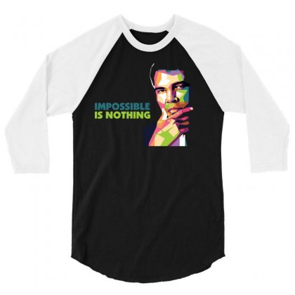 Impossible Is Nothing 3/4 Sleeve Shirt Designed By Sabriacar