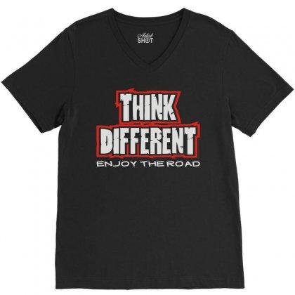 Think Different V-neck Tee Designed By Mdk Art