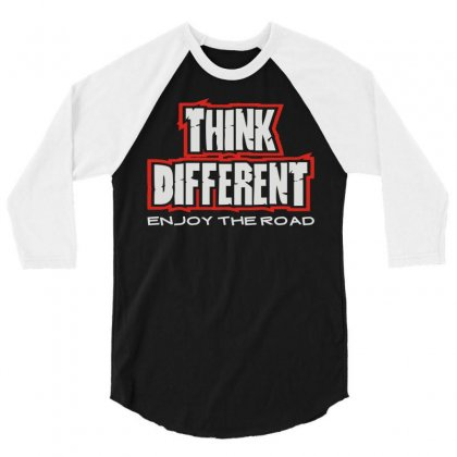 Think Different 3/4 Sleeve Shirt Designed By Mdk Art