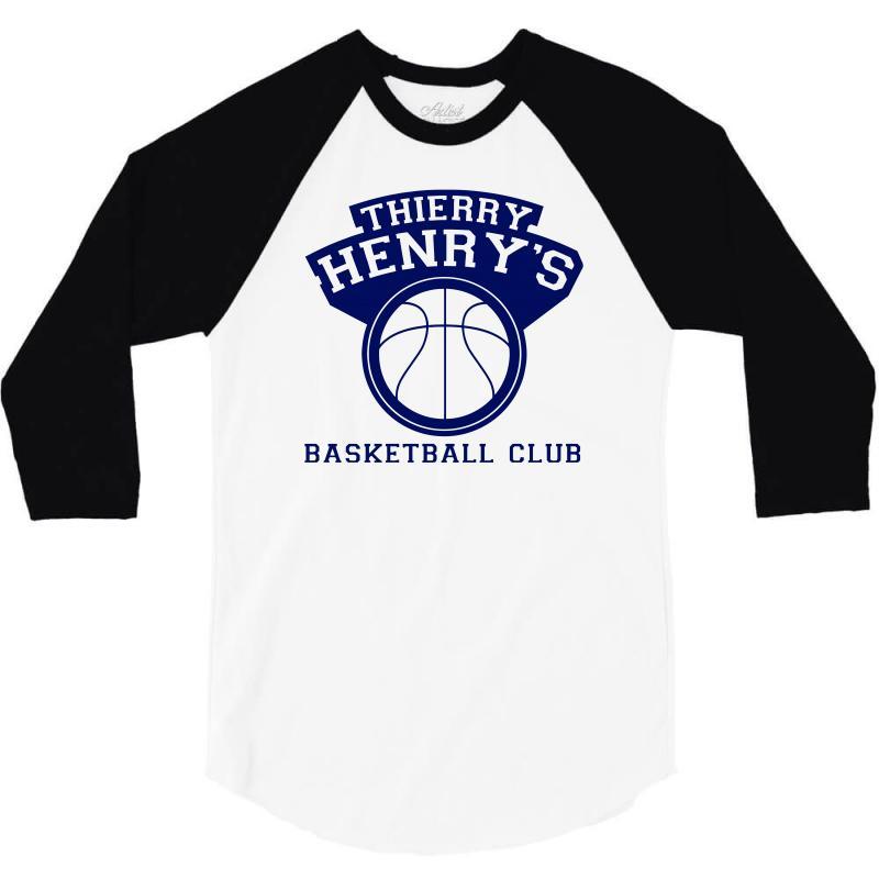 04fae7359ca Custom Thierry Henry s Basketball Club 3 4 Sleeve Shirt By Mdk Art ...