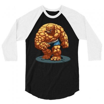Thing 3/4 Sleeve Shirt Designed By Mdk Art