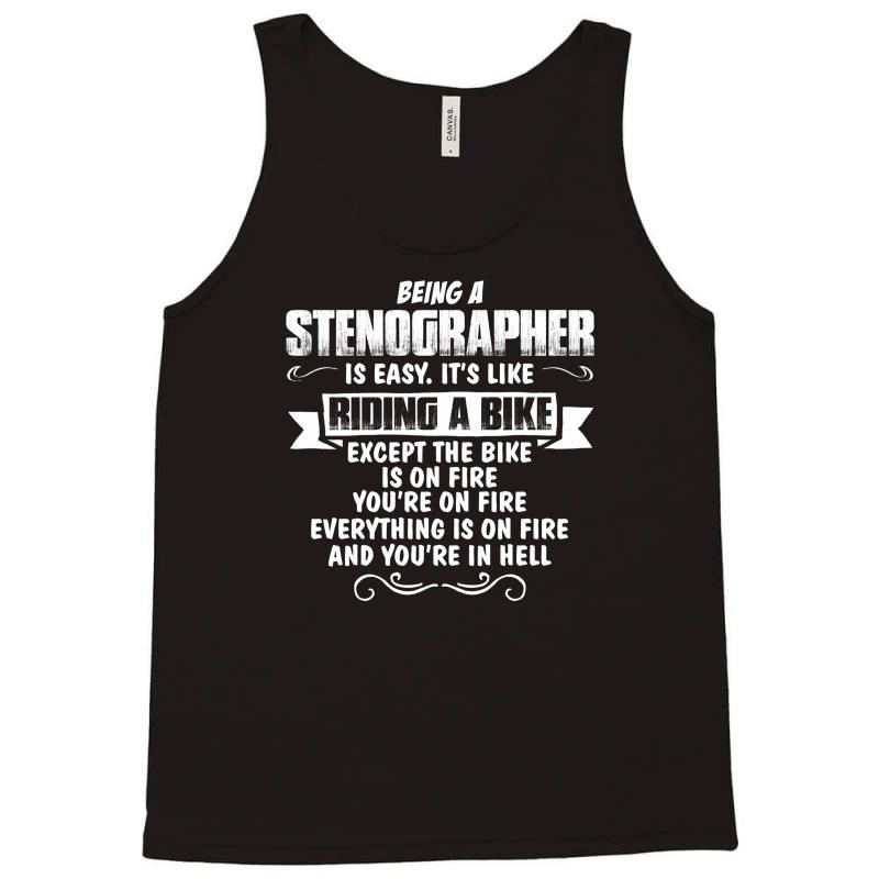Custom Being A Stenographer Tank Top By Tshiart