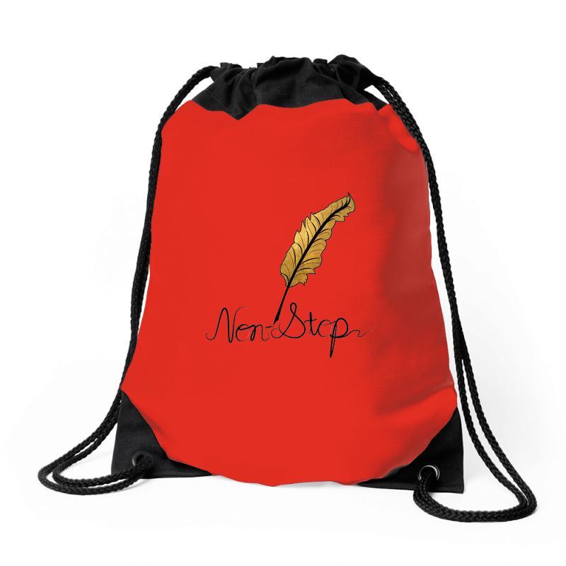 Non Stop Alexander Hamilton Style Drawstring Bags By Artistshot