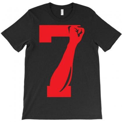 Colin Kaepernick Number 7 T-shirt Designed By Mdk Art