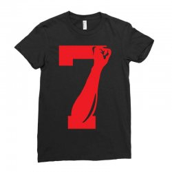 Colin Kaepernick Number 7 Ladies Fitted T-Shirt | Artistshot