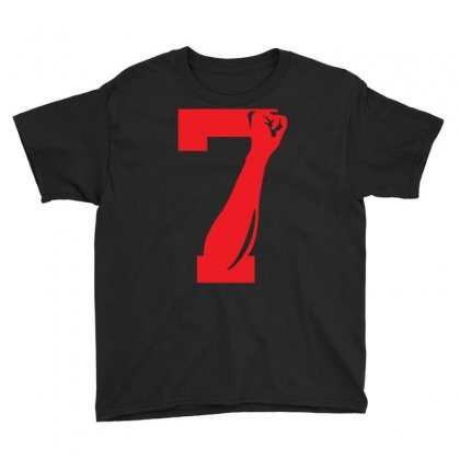 Colin Kaepernick Number 7 Youth Tee Designed By Mdk Art