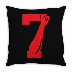 Colin Kaepernick Number 7 Throw Pillow | Artistshot