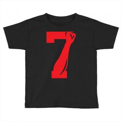 Colin Kaepernick Number 7 Toddler T-shirt Designed By Mdk Art