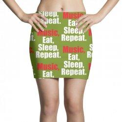 Music Eat Sleep Repeat Mini Skirts | Artistshot