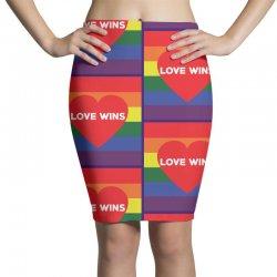 Love Wins Pencil Skirts | Artistshot